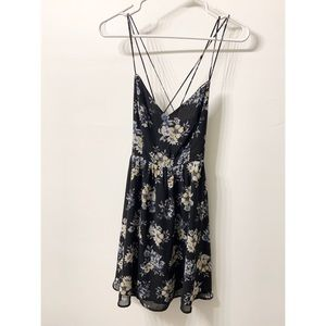 Lucca Couture Black Floral Minidress